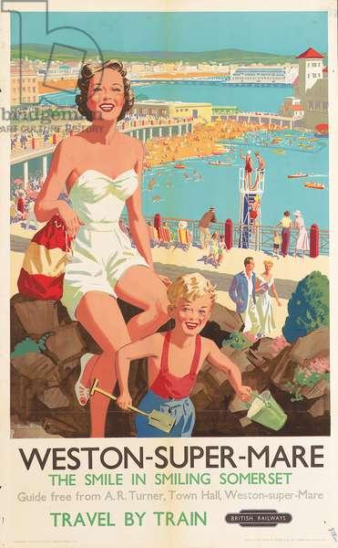 Weston-Super-Mare (colour litho)