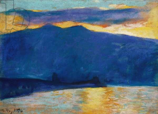 Sunrise, 1896 (pastel on paper)