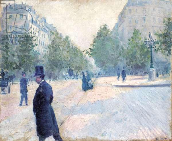 Place Saint Augustin, Misty Weather, 1878 (oil on canvas)