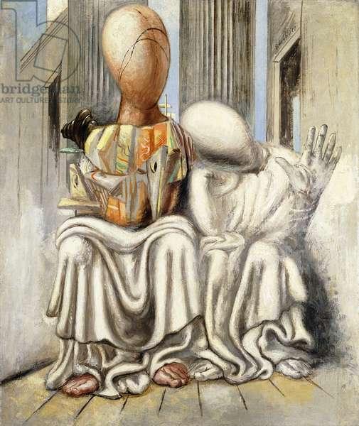 The Tragedy of Aeschylus; La Tragedia d'Eschilo, 1925 (oil on canvas)