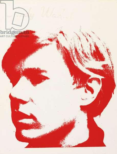 Self portrait, 1967 (silkscreen ink on vinyl)