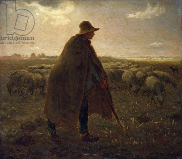The Shepherd, c.1858-62 (oil on panel)