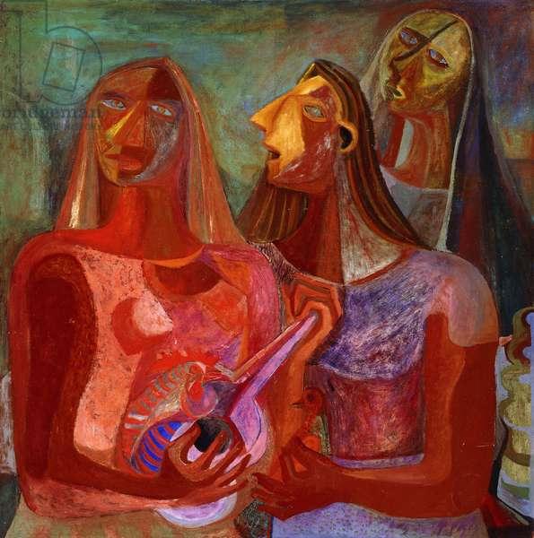 Las Planideras (oil on canvas)