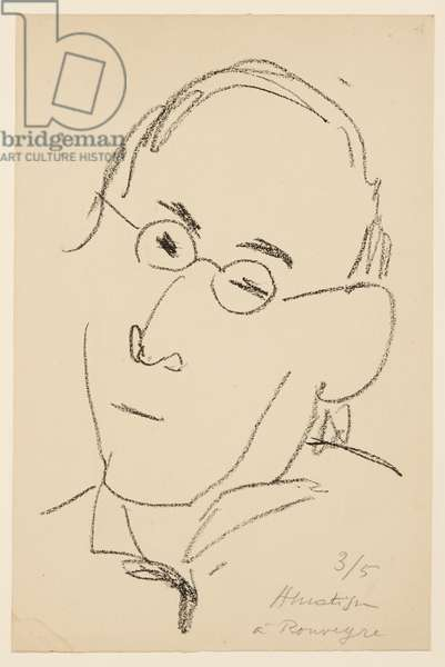 Portrait of Paul Léautaud, 1946 (litho)