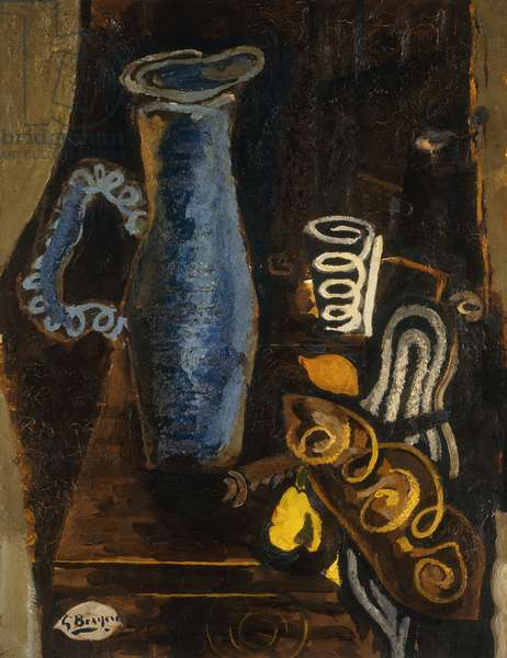 The Blue Pitcher; Le Pichet Bleu, 1944 (oil on canvas)