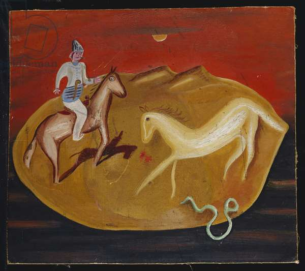 Rider, White Horse and Serpent, 1924 (oil on canvas)