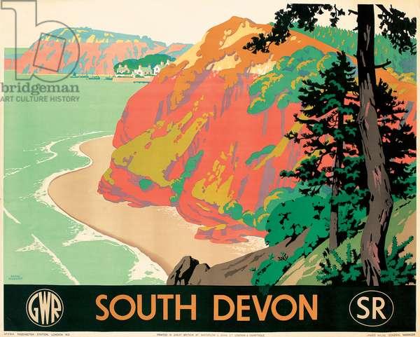 Seaton, Devon, 1930 (colour litho)