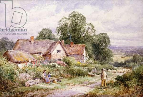 A Sheep Lane near Woburn, Bedfordshire, (pencil and watercolour)