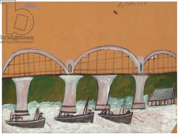 Saltash Bridge (pencil & oil on card)