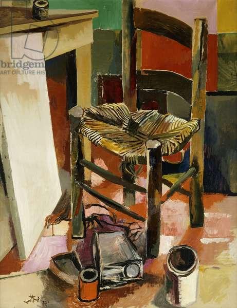 The Chair; La Sedia, 1956 (oil on canvas)