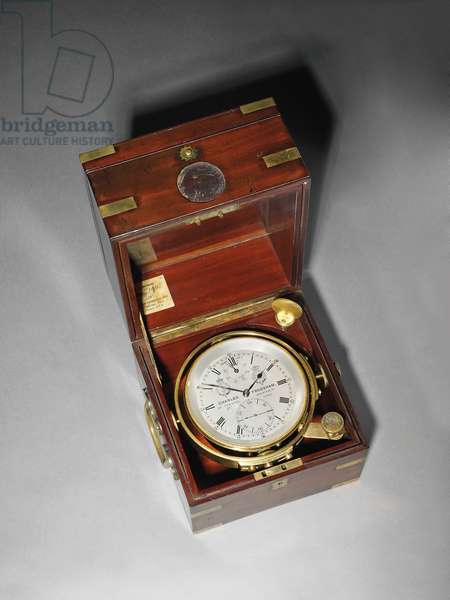 A Victorian two day marine chronometer with Hartnup balance, c.1870 (mounted in mahogany & brass)
