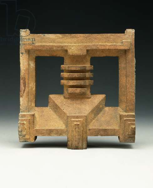 A terra-cotta architectural block designed by Frank Lloyd Wright, for the Imperial Hotel, Tokyo, c.1916-1922 (terra-cotta)
