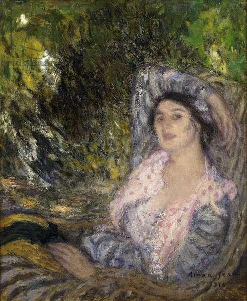 Woman in the Garden; Femme dans un Jardin, 1916 (oil on canvas)