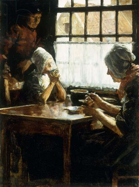 The Midday Meal (oil on canvas)