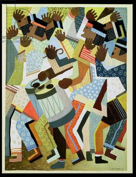 Domingo Chorus, 1936 (gouache & pencil on paper)