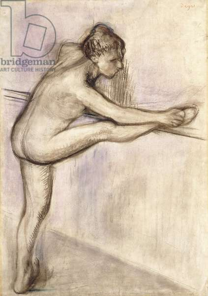 Dancer at the Bar, 1884-1888 (charcoal heightened with pastel on paper)