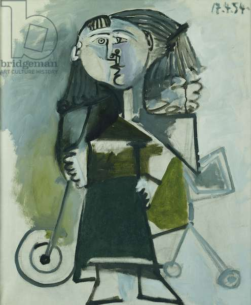 Girl on Tricycle; Fillette au Tricycle, 1954 (oil on canvas)
