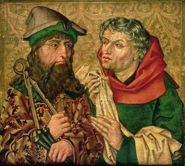St. Joseph and Nicodemus on gold ground panels