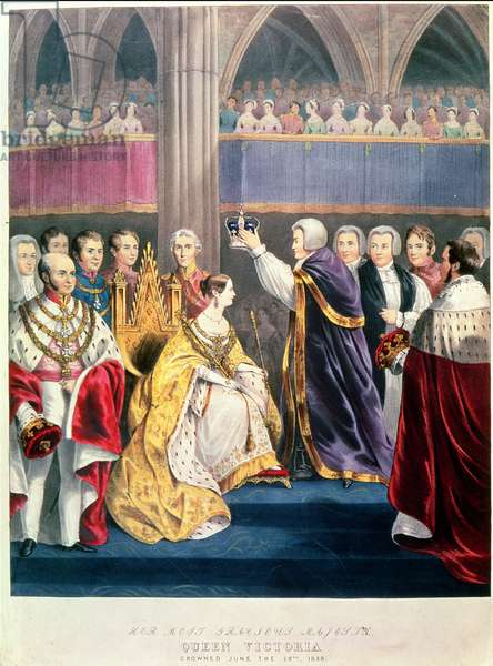 Queen Victoria's Coronation (coloured lith)