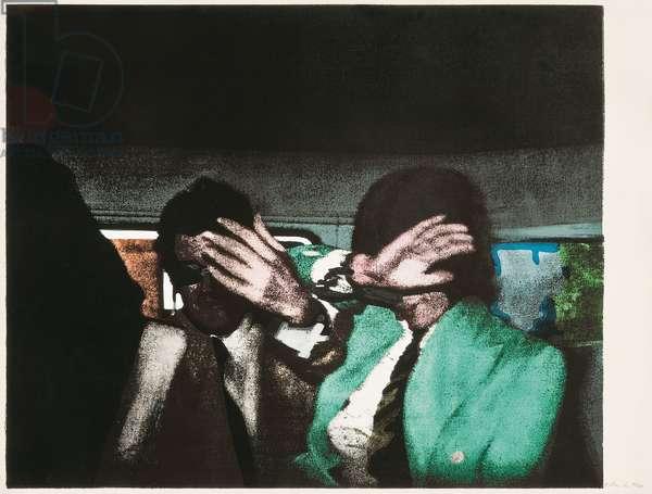Release (Cristea 81), 1972 (screenprint & collage on paper)