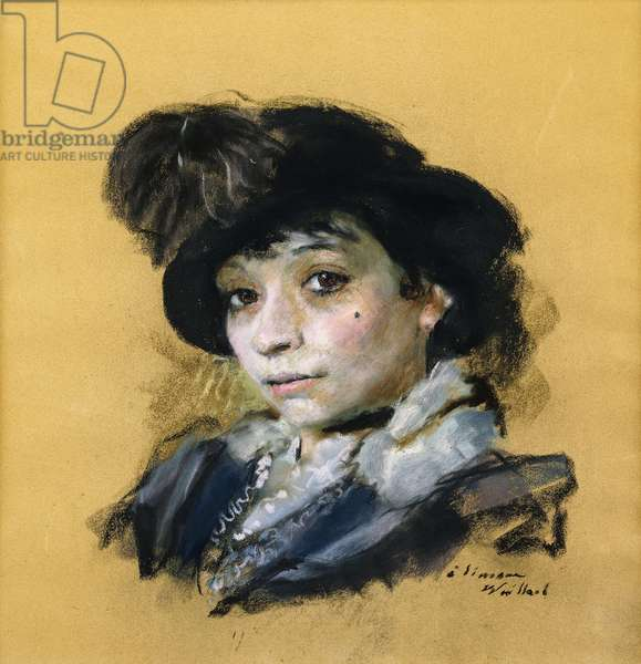 Simone, c.1912 (pastel laid on buff paper)