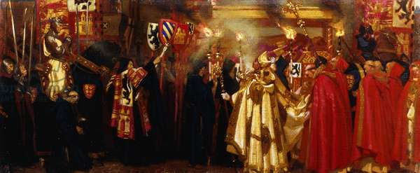 Edward I and the Passing of Queen Eleanor, 1908 (oil on canvas)