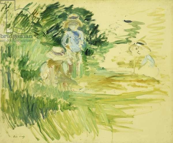 Children by the Side of a Lake; Enfants au Bord du Lac, 1894 (oil on canvas)