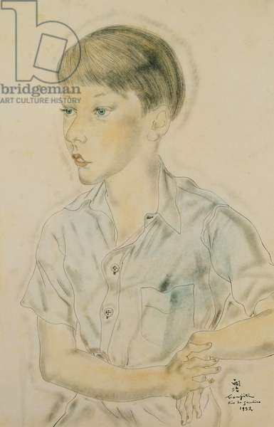 Young Boy; Jeune Garcon, (watercolour, pen and ink)