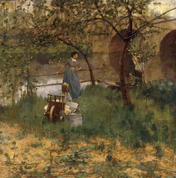 On the Loing, 1884 (oil on canvas)