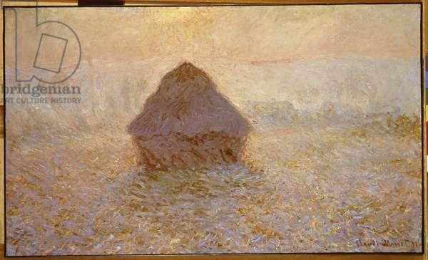 Haystacks, Sun in the Mist (oil on canvas)
