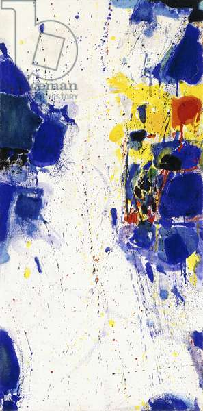 Vertical Blue and Yellow, 1959 (oil on canvas)