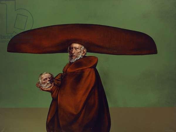Titian Alive and Dead; El Ticiano Vivo y Muerto (acrylic on canvas)