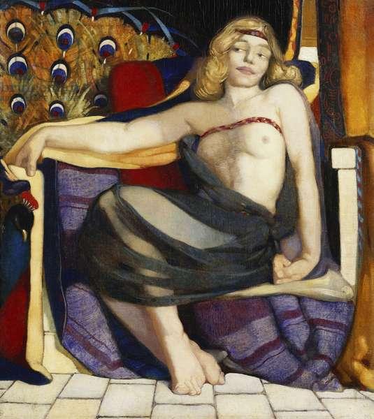 Odalisque, (oil on canvas)