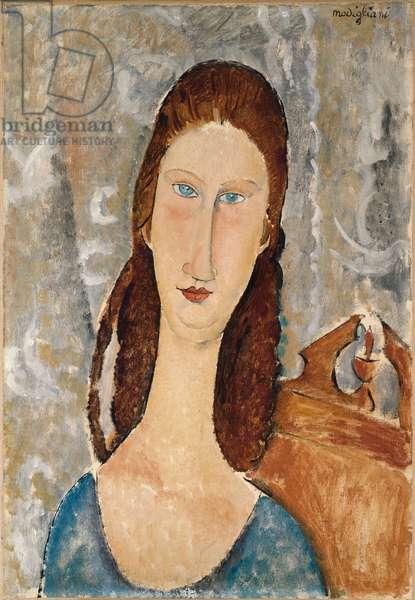 Portrait de Jeanne Hebuterne (oil on canvas)