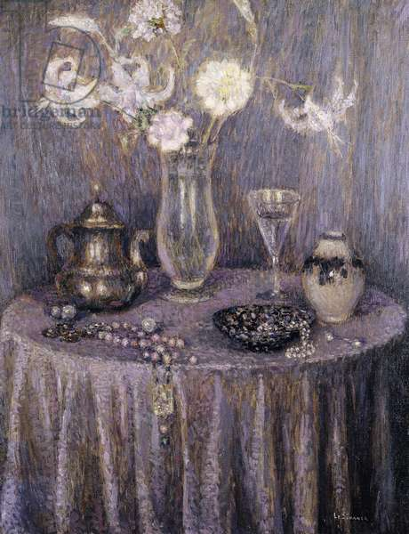 The Table, Gray Harmony; La Table, Harmonie Grise, 1927 (oil on canvas)