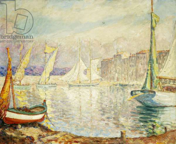 Le Port de Saint Tropez, 1906 (oil on canvas)