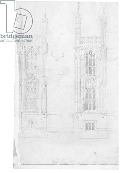 Drawing for the Houses of Parliament, c.1836-40 (pencil on paper)