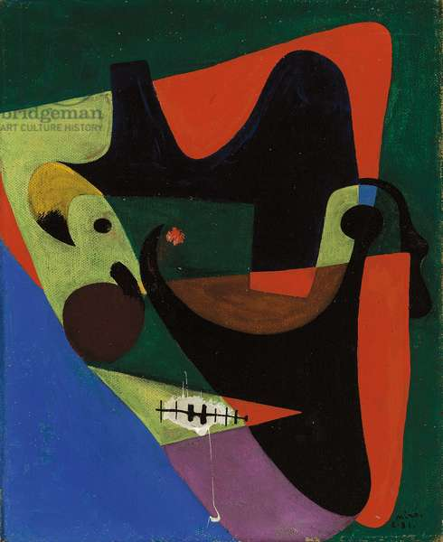 Head of a Man; Tete d'Homme, 1931 (oil on canvas)