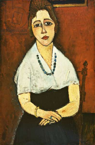 Girl With Necklace (Elena Picard); La Fille Au Collier (Elena Picard), 1917 (oil on canvas)