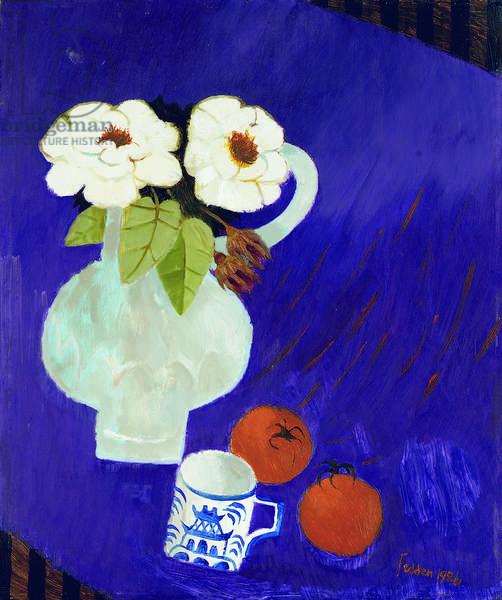 Purple Table, 1986 (oil on board)