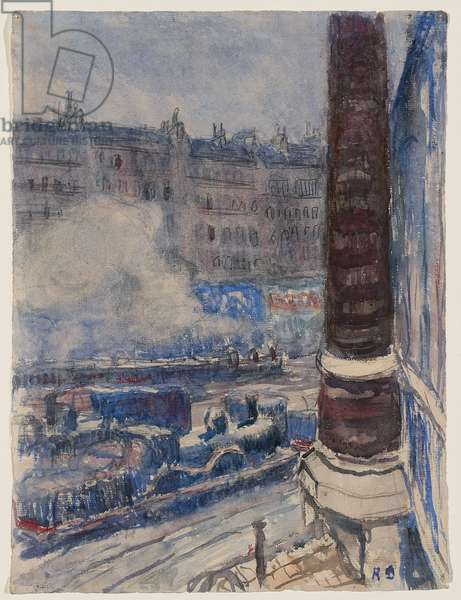 The Saint-Lazare Railway Station, c. 1903 (w/c & pencil on paper)