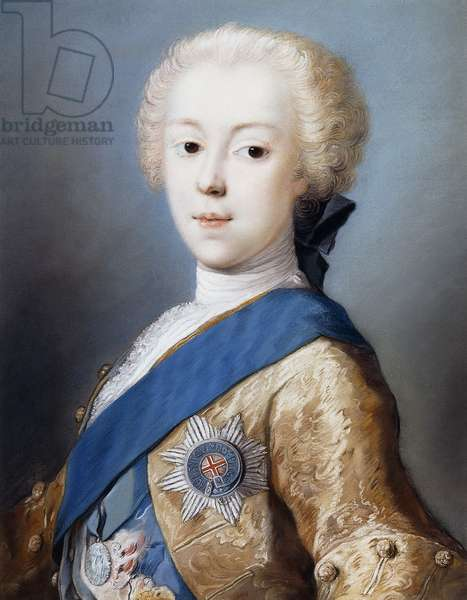 Portrait of Prince Charles Edward Stuart, bust-length, in profile to the left,  (pastel)