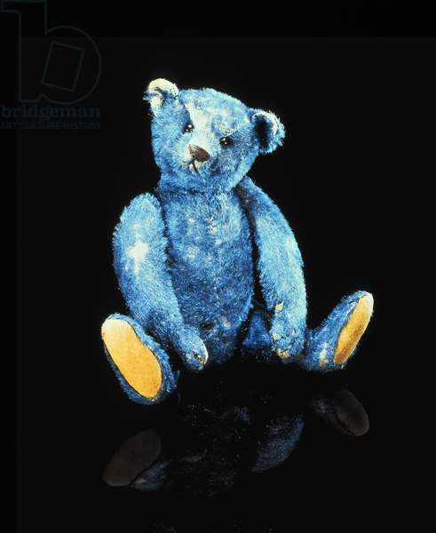 Elliot, a unique blue plush covered teddy bear, c.1908 (textile)