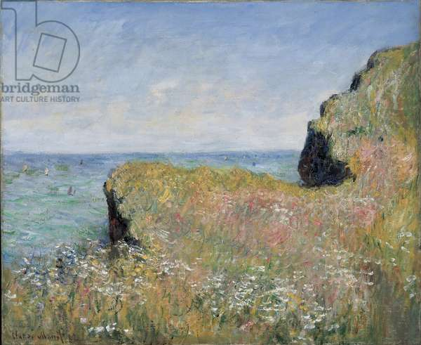 Edge of the Cliff, Pourville, 1882 (oil on canvas)