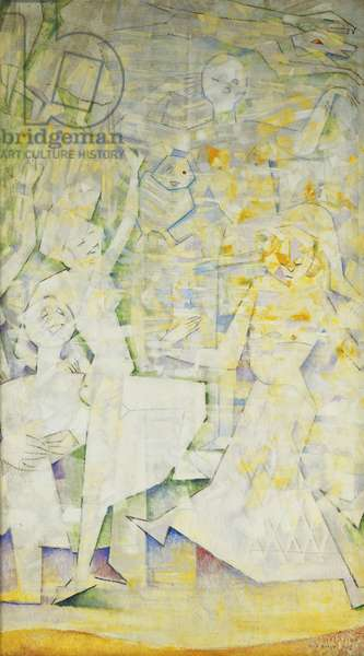 The Blind Dancing at Night; Les Aveugles dansent la Nuit, 1956 (oil on canvas)