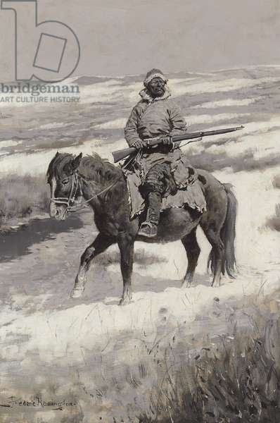A Manchurian Bandit, c.1904 (oil en grisaille on canvas)