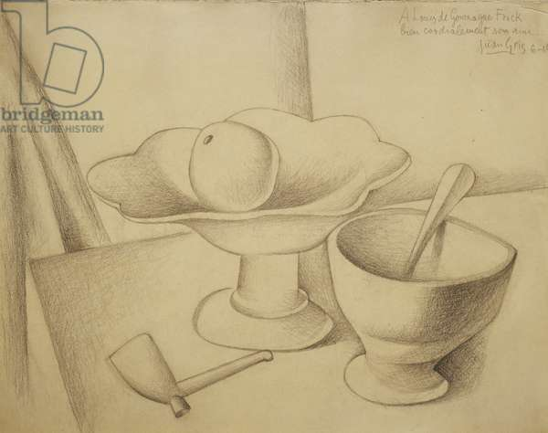 Still-life with Fruit Dish; Nature Morte au Compotier, 1919 (pencil on buff paper)