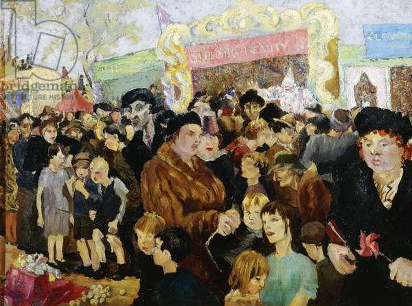 The Fair, (oil on canvas)