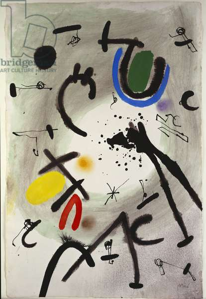 Untitled, 1970 (gouache, w/c, pastel, charcoal & ink on paper)