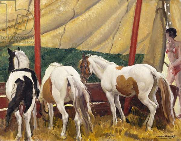 Circus Ponies (oil on canvas)